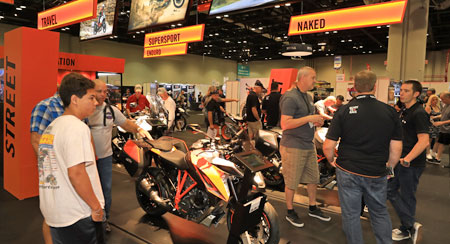 KTM Motorcycles on Display
