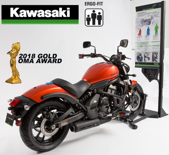 Kawasaki Ergo Fit Center Wins Display Award At Globalshop Show
