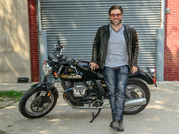 Austin Rothbard and Moto Guzzi