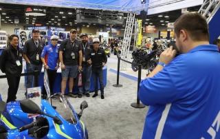 Suzuki MotoAmerica Team at AIMExpo
